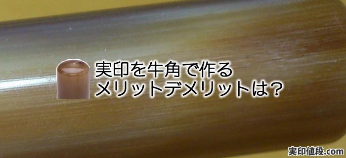牛角を印鑑素材として実印作成するメリットデメリットは?